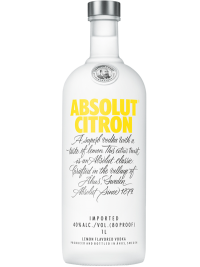 Absolut Vodka Sweden Citron 1L Bottle