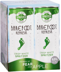 BAREFOOT REF SPRITZER PEAR 4PK_250ML_Spirits_FRUIT WINE