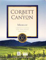 CORBETT CANYON MERLOT 3L BOX Wine RED WINE