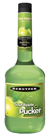 DEKUYPER PUCKER SOUR APPLE SCHN 30