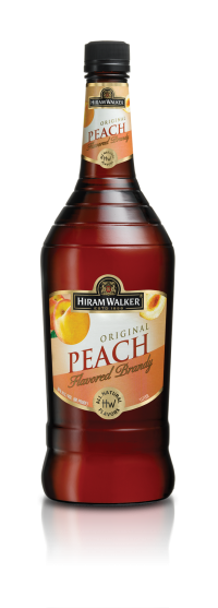 HIRAM WALKER Peach Brandy 60 Proof 1L