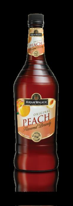 HIRAM WALKER Peach Brandy 60 Proof 1L