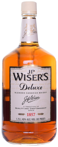 J.P.Wiser's Whisky Canada Deluxe 80 Proof 1.75L Bottle