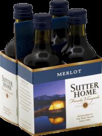 SUTTER HOME MERLOT PET 6 4PK