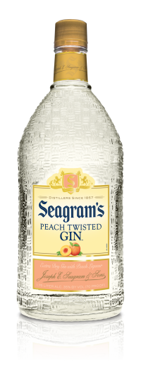 Seagram's Gin USA Twisted Peach 1.75L Bottle
