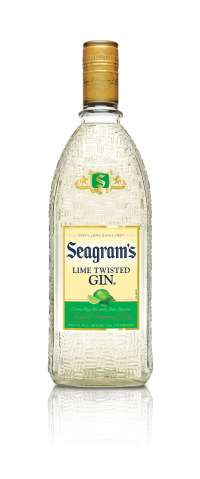 Seagram's Gin Usa Twisted Lime 750ml Bottle