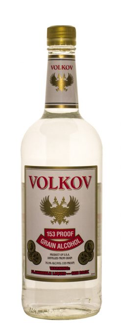 Volkov Grain Alcohol 153 Prf 1.0L