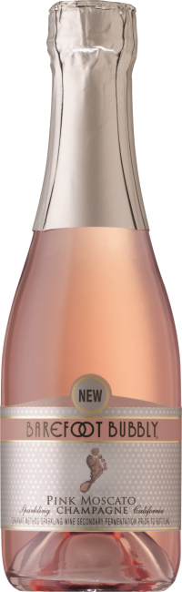 Barefoot Bubbly Pink Moscato 187ml 4pk