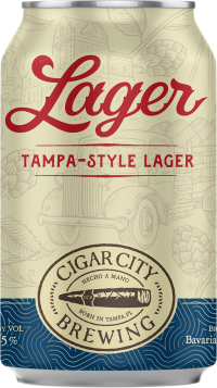 CIGAR CITY TAMPA LAGER 6PK CN-12OZ-12OZ