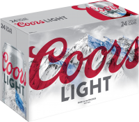 COORS LIGHT 12OZ 24PK CN-12OZ-Beer