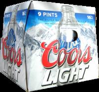 COORS LT 16OZ ALUM 9PK-16OZ-Beer
