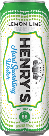 HENRYS SPARKLING LEMON LIME 12OZ 6PK CN-12OZ-Beer