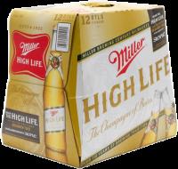 MILLER HIGH LIFE 12oz 12PK-NR-12OZ-Beer