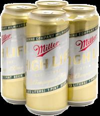MILLER HIGH LIFE 16OZ 4PK CN-16OZ-Beer