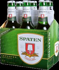 SPATEN ORIG LAGER 375ML 6PKS Beer