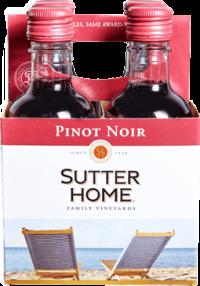 SUTTER HOME PINOT NOIR 6 4PK PET 187ML