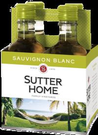 SUTTER HOME SAUV BLANC PET 6 4PK 187ML