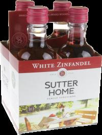 SUTTER HOME WHITE ZINF 6 4PK PET 187ML