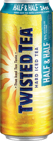 TWISTED TEA HALF & HALF 24OZ CN-Beer