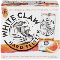 WHITE CLAW RUBY GRAPEFRUIT 12OZ 6PK CN-12OZ-Beer