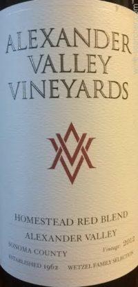 alexander valley vineyards red blend