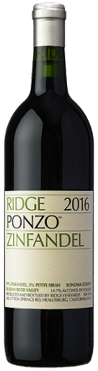 Ridge Ponzo Vineyard Zinfandel 750ml