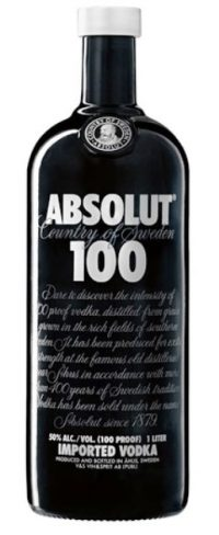 Absolut 100prf Black 750ml