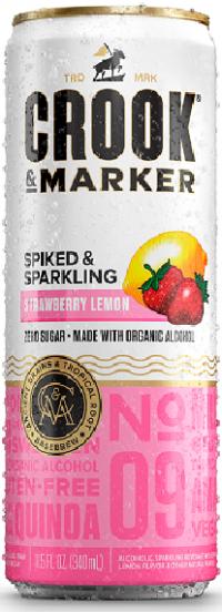Crook and Marker Strawberry Lemon Sparkling 11.5oz 4pk cn