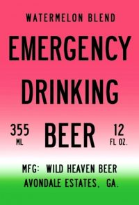 Wild Haven Emergency Beer Watermelon 12oz 6pk cn