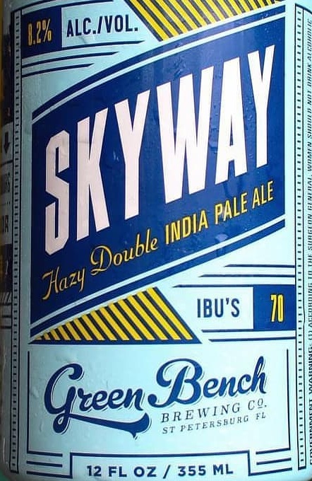 Terrific Green Bench Skyway Hazy Double Ipa 12Oz 4Pk Cn Pabps2019 Chair Design Images Pabps2019Com