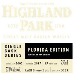 Highland Park Cask Florida Ed 750ml