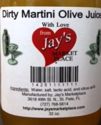 jays Dirty Martini Olive Juice