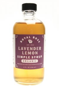 Royal Rose Lavender Lemon Simple Syrup 8oz