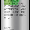 Five Drinks Co Watermelon Vodka Soda 4pk
