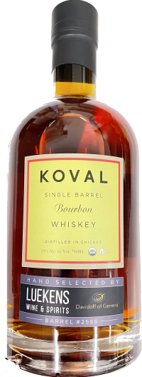 Koval Single Barrel Select Bourbon