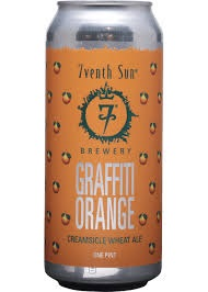 7th Sun Graffiti Orange 16oz 4pk Cn