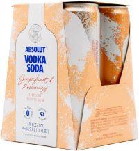 Absolut Vodka Soda Grapefruit & Rosemary 4pk