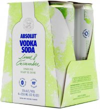 Absolut Vodka Soda Lime & Cucumber 4pk
