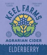 Keel Farms Elderberry Cider