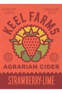 keel farms strawberry lime cider 6pk