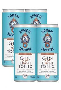 Bombay Sapphire Cocktail Gin & Light Tonic 4pk