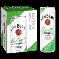 Jim Beam Ginger Highball 355ml 4pk